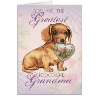 Carte Grand-maman de coeur de teckel