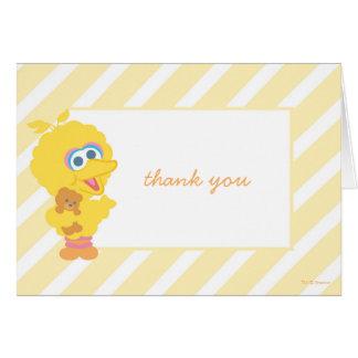 Carte Grand Merci de baby shower d'oiseau