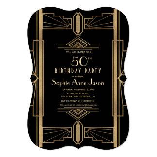 Carte Grande cinquantième fête d'anniversaire de Gatsby
