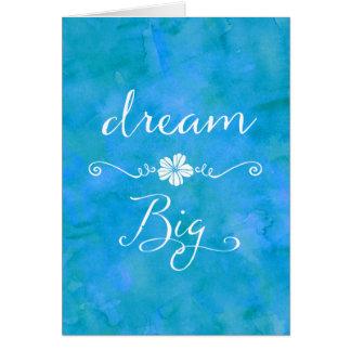 Carte Grande citation inspirée rêveuse de bonheur