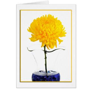 Carte Grande photographie de chrysanthème