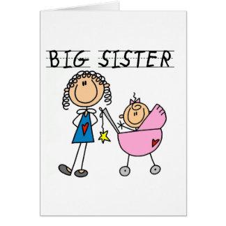 Carte Grande soeur avec peu de T-shirts de SIS