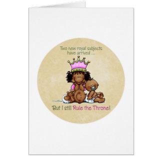 Carte Grande soeur d'Afro-américain - reine de jumeaux