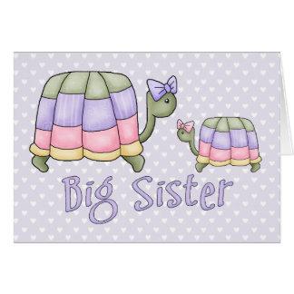Carte Grande soeur de tortues en pastel