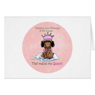 Carte Grande soeur - reine de petite soeur - princesse