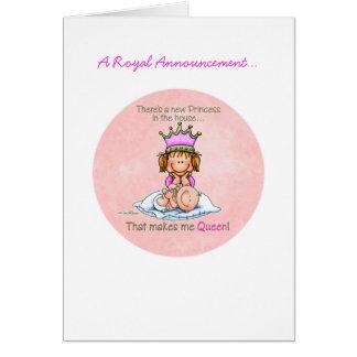 Carte Grande soeur - reine de princesse