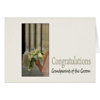 Carte Grands-parents des félicitations de mariage de