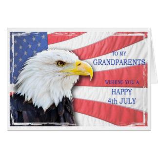 Carte Grands-parents, le 4 juillet avec un aigle chauve