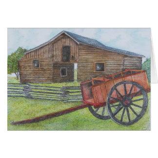 Carte grange de rondin au parc de ranch de George