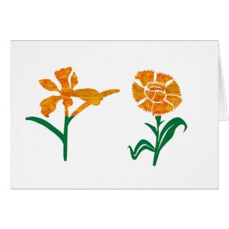 Carte Graphiques MIGNONS de fleur : BEAUTÉ dans la