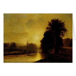 Carte Greetingcard avec la peinture de George Inness