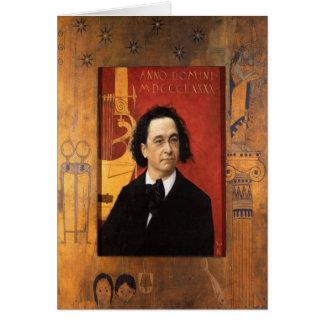 Carte Greetingcard avec la peinture de Gustave Klimt
