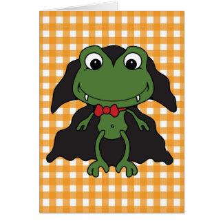 Carte Grenouille Dracula de Halloween