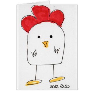 Carte Griffonnage dolby de poulet mignon
