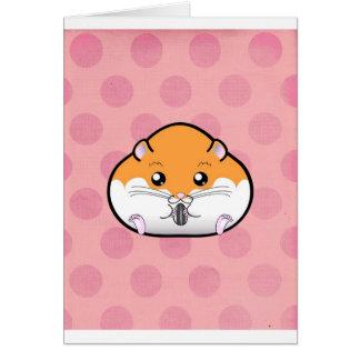 Carte Gros hamster syrien blanc orange