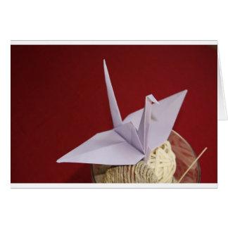 Carte grue élégante d'origami