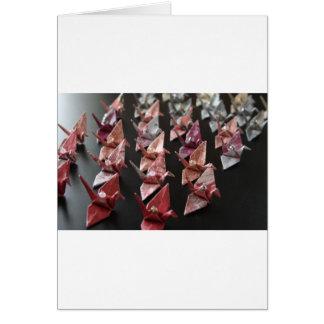 Carte Grues d'origami