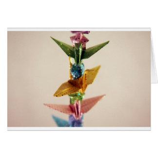 Carte Grues et étoiles d'origami