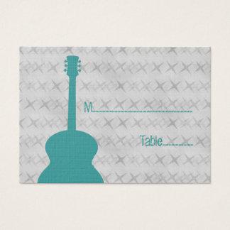 Carte grunge d'endroit de guitare turquoise