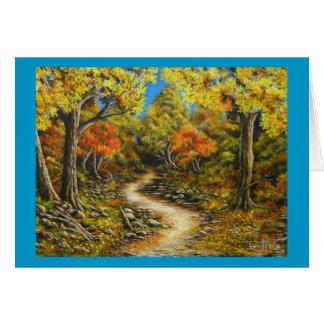 Carte Guérison appelée par peinture d'automne de chute