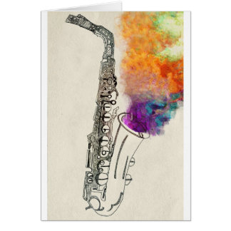 Carte Guérison de saxophone
