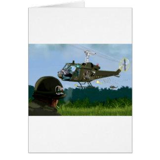 Carte Guerre de Vietnam Bell Huey.