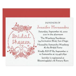 Carte Guirlande florale de Bourgogne de perruches
