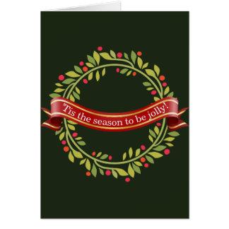 Carte Guirlande Tis de Noël la saison