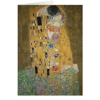 Carte Gustav Klimt - le baiser