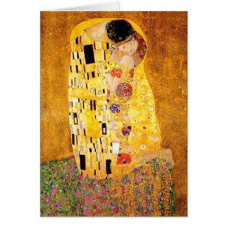 """Carte Gustav Klimt """"le baiser """""""