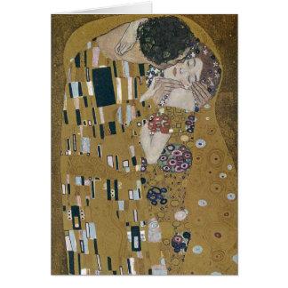 Carte Gustav Klimt le baiser