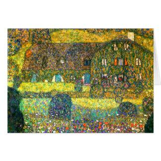 Carte Gustav Klimt : Maison de campagne chez l'Attersee