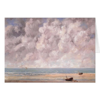 Carte Gustave Courbet- la mer calme