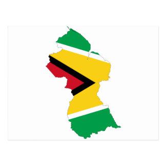 Carte GY de drapeau de la Guyane