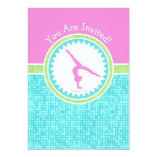 Carte Gymnastique Tri En pastel de couleur avec la tuile