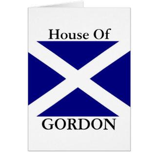 Carte Habillement écossais de drapeau