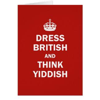 Carte Habillez les Anglais et pensez Yiddish