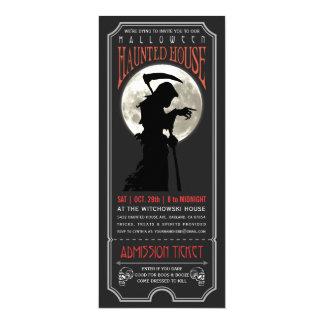 Carte Halloween a hanté l'invitation de billet de