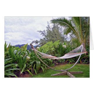 """Carte """"Hamac hawaïen, baie de Wainiha, Kauai, Hawaï"""