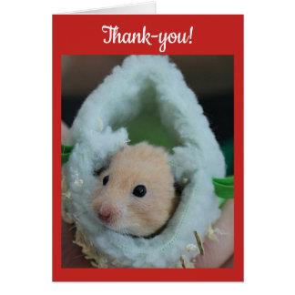 Carte Hamster de vacances de merci