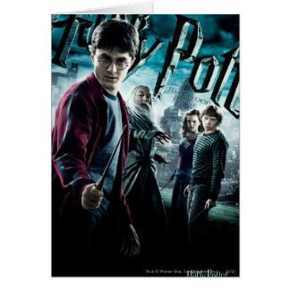 Carte Harry Potter avec Dumbledore Ron et Hermione 1