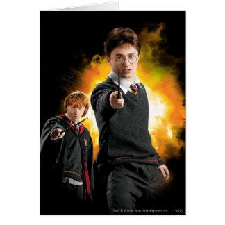 Carte Harry Potter et Ron Weasely