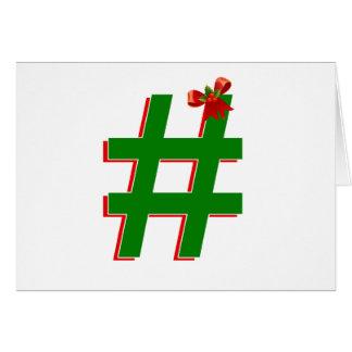 Carte #HASHTAG de #Christmas - symbole d'étiquette de