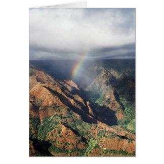 Carte Hawaï, Kauai, parc d'état de canyon de Waimea