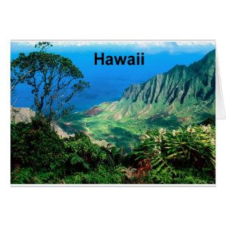Carte Hawaï passe en coup de vent vallée Kauai (St.K.)