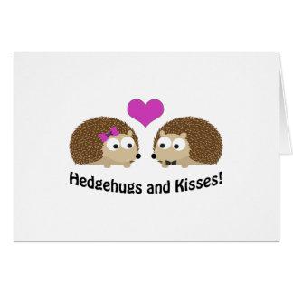 Carte Hedgehugs et amour de hérisson de baisers