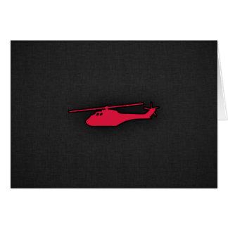 Carte Hélicoptère de rouge cramoisi