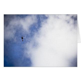 Carte Hélicoptère en ciel