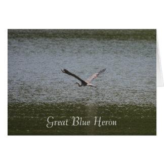 Carte Héron de grand bleu