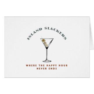 Carte Heure heureuse de Slacker d'île